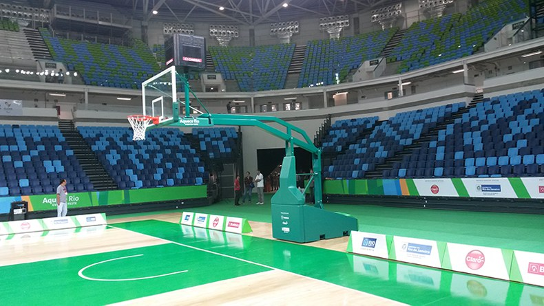 Olympic Test Event basketball 2016 backstops